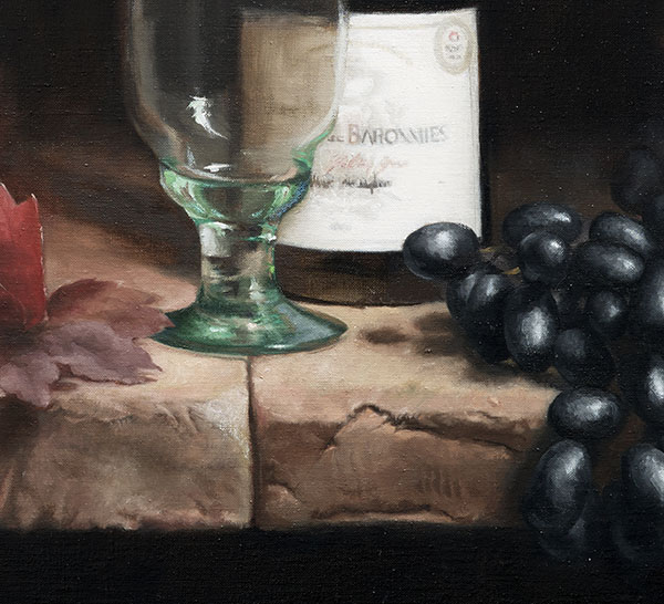 Grapes and Red Wine detail 3