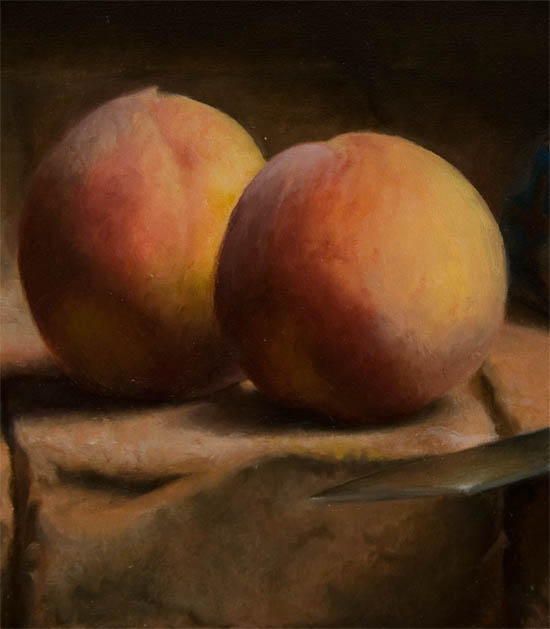 Peaches and small jug